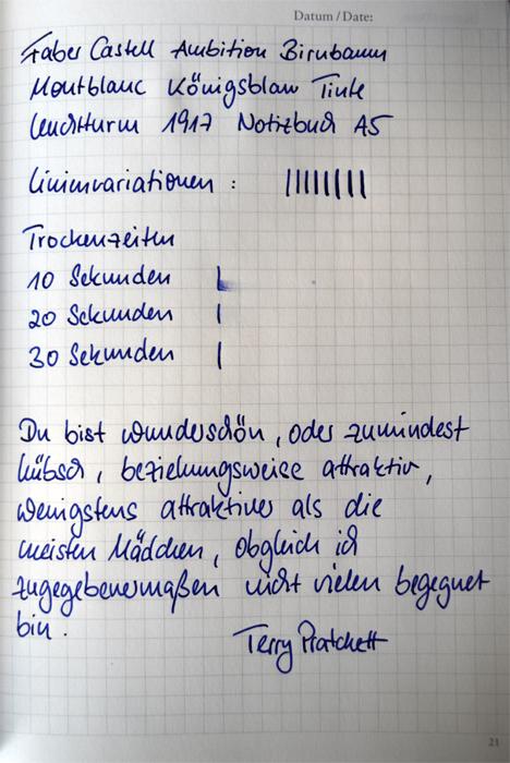 Faber Castell Ambition Schriftbild