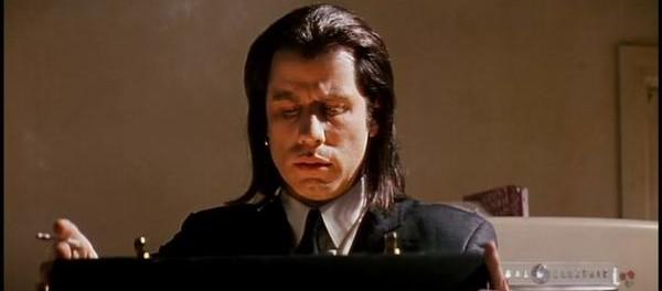 John Travolta und Marsellus Wallace Koffer