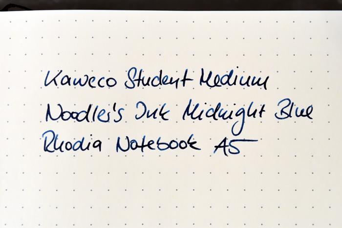 Schreibprobe Kaweco Student auf Rhodia Papier