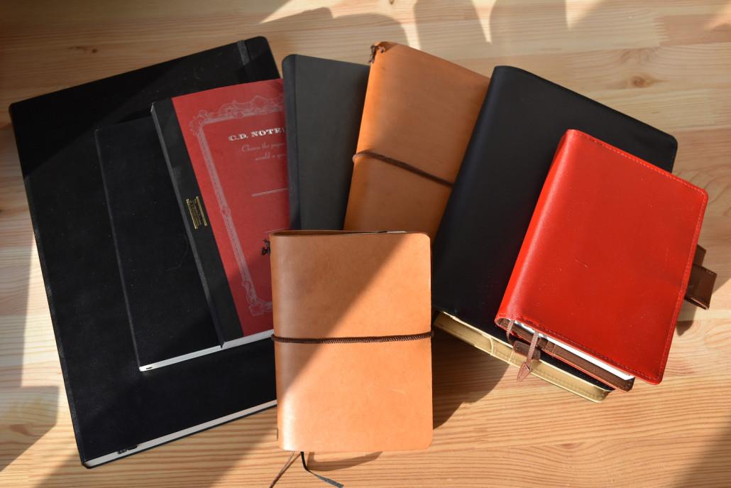 Notizbücher und Notizbuchhüllen