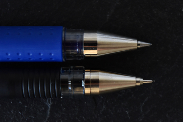 Gelschreiber Vergleich: Nadelspitze, konische Spitze